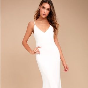 White maxi lulus dress